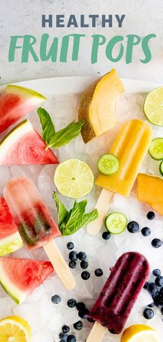 Healthy Frozen Fruit Pops: Three Ways Embracing the summer heat and humidity is easier with healthy frozen fruit pops in hand. Choose from blueberry lemonade, cucumber cantaloupe, or watermelon mint the next time you need to cool of Watermelon Mint Lemonade, Healthy Lemonade, Frozen Watermelon, Sweet Watermelon, Blueberry Lemonade, Watermelon Recipes, Frozen Fruit, Frozen Treats, Watermelon Healthy