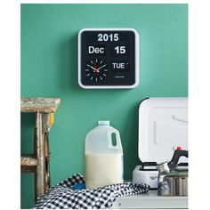 Karlsson Big Flip Kalender Klok - Rand Wit