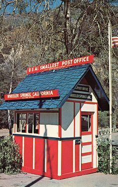 MAIL~Smallest Post Office in USA, Wheeler Springs CA