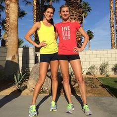 Kara Goucher and Lauren Fleshman. True sister heroes.