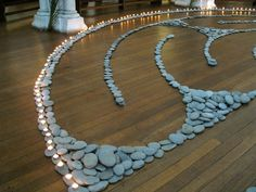 For about 4 days before Easter, St Matthew-in-the-city sets out a labyrinth in river stones and candles. The church fills with music: someti...