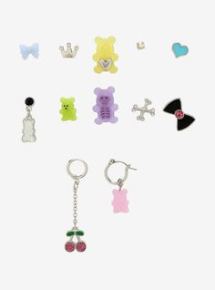 Jewelry Show, Cute Jewelry, Body Jewelry, Jewelry Crafts, Jewellery, Bear Bows, Emo Princess, Cute Candy, Kawaii Accessories