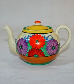 Art Deco Clarice Cliff Bizarre Gayday 2 Cup Teapot | eBay