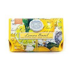 Lemon Basil Shea Butter Artisanal Triple Milled Soap 9oz - by Michael Design Works - Hand made in England , http://www.amazon.ca/dp/B009TPH7V2/ref=cm_sw_r_pi_dp_UgbArb0JXFP62
