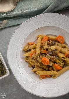 Rustic Pasta Night. Shiitake, Carrot, Herbs de Provence Garlic-Lemon Sauce.