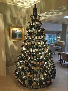 Новогодняя Елка Своими Руками, Рождественские Украшения, Веселого Рождества, Настоящее Рождество, Рождественские Фото, Рождественские Винные Бутылки, Рождественская Упаковка, Бутылочное Деревья, Пробки От Винных Бутылок