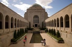 "The National War Memorial features in ""Truth+Lies"" Stuff To Do, Things To Do, Truth And Lies, Visit Australia, Modern City, Green Garden, Lush Green, Capital City, Taj Mahal"