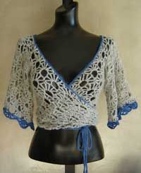 Kimono Wrap Lace Top Crochet Pattern from SweaterBabe.com http://www.sweaterbabe.com/product_cp22.htm