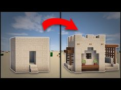 Minecraft: How To Remodel A Desert Village Small House - YouTube