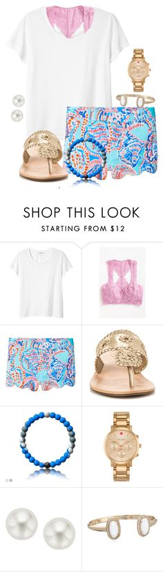 """I'm sleepy "" by christyaphan ❤ liked on Polyvore featuring Monki, Free People, Lilly Pulitzer, Jack Rogers, Kate Spade and Pearlyta"