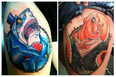Tattoo<3 This is Sherlock and Watson, my shark and my octopus. I Tattoo~