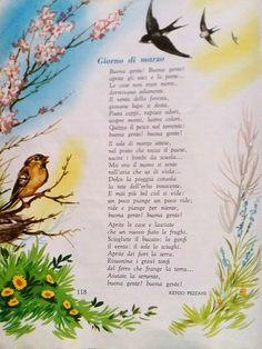 Vintage School, Books, Anna, Italian Language, March, Spring, Libros, Book, Book Illustrations