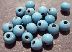 VINTAGE Murano Blue Glass Beads VENETIAN Beads Murano by punksrus, $4.50