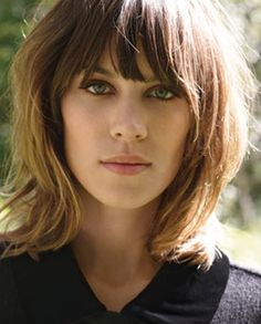 long bob with layers - Alexa Chung