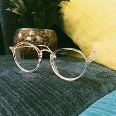 1920s Nerd Brille filigran rund Glasses Klarglas Hornbrille treber 20R50 Gold