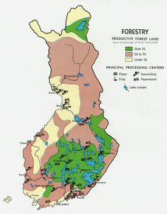 Productive Forest Land in Finland (1969)