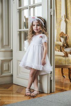 Βαπτιστικό φόρεμα Bambolino για κοριτσάκι, annassecret Buy Shoes, Silk Flowers, Christening, Tulle, Take That, Flower Girl Dresses, Suits, Wedding Dresses, Lace