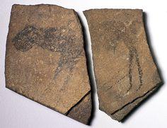 Apollo 11 Cave Stones, Namibia, quartzite, c. Image courtesy of State Museum of Namibia.