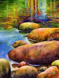 Summer Tranquility ~ Watercolor on paper by Hailey Herrera
