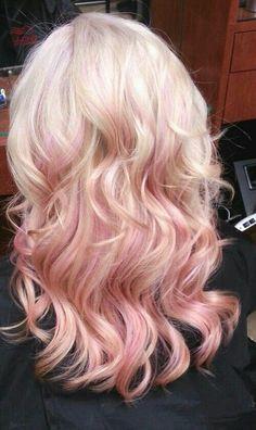 #hair #pink #pinkhair #blonde #wavyhair #longhair #harinspiration #layers