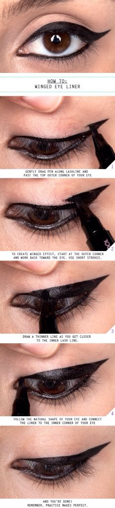 how to do winged eye liner by beautylish