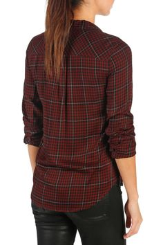 PAIGE - Mya Plaid Shirt is now 59% off. Free Shipping on orders over $100.