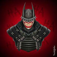 Batman who laughs Batman Metal, Batman Dark, Im Batman, Batman The Dark Knight, Batman Comics, Dark Knights Metal, Deadpool Funny, Samurai, Batman Universe