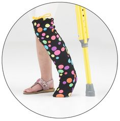 """Have fun with your leg cast wearing this """"Lots of Dots"""" Legz! cast cover. Not only is it fun, it keeps your cast clean, protected and snag-free!"""