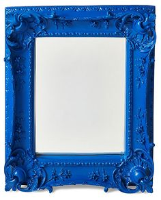 Louis Sweep Accent Mirror, Rich Navy   Ideas to Steal   One Kings Lane blue baroque mirror #colorfurniture