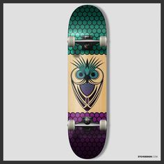 Owl skateboard design  #skate #skateboard #skatedeck #skateboards #owl #goskate #design #graphicdesign #graphics #graphicdesigner #logo #logodesigner #art #creative #icon #concept by 3to1design