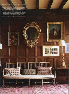The World of Interiors, October Photo - Christopher Simon Sykes Ilike the hll bench.think the saltram bench from JAMB Country House Interior, Interior And Exterior, Interior Design, Country Houses, Beautiful Interiors, Beautiful Homes, English Country Style, Antique Interior, World Of Interiors