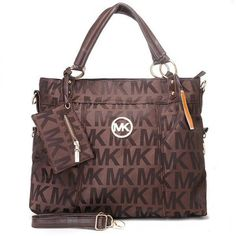 5d863efdc5 2012 Michael Kors Classic Tote Brown Sale Michael Kors Handbags Outlet