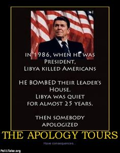 OBAMA CARTOONS: Conservative Political Humor: The Apology Tours have Consequences  LOGICAL HINT: Cartoons do not equal reality.. look up facts.. there was no apology tour in the real world :)