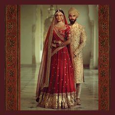 Image may contain: 2 people Wedding Lehenga Designs, Wedding Lehnga, Designer Bridal Lehenga, Indian Bridal Lehenga, Indian Bridal Outfits, Indian Bridal Fashion, Indian Bridal Wear, Indian Designer Outfits, Red Lehenga