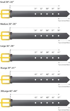Amish belt sizing charts men s fashion tips belts pinterest