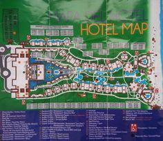 Map of the Grand Riviera Princess and Grand Sunset Princess Resorts, Playa Del Carmen Mexico Mexico Resorts, Cancun Mexico, Mexico Trips, Grand Riviera Princess, Map Layout, Riviera Maya Mexico, Mexico Travel, Mexico Vacation, Suites