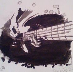 Musica guitarra arte tinta
