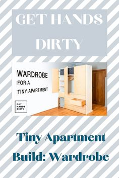 Part 12 of the Get Hands Dirty Tiny Apartment Build is here! Watch the creation of a wardrobe for the apartment.  #gethandsdirty #woodworkingvideos #dreamhome #tinyapartment #tinywardrobe Cool Woodworking Projects, Woodworking Videos, Diy Woodworking, Space Dividers, Build A Wardrobe, Workshop Organization, Dream Closets, Weekend Projects, Closet Storage