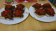 Pulled chilli beef with homemade red pepper and sun dried tomato salsa