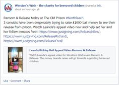 Ransom & Release today at The Old Prison #Northleach 3 convicts have been desperately trying to raise £1000 bail money to see their release from prison. Watch Leanda's appeal video now and help set her and her fellow inmates free!!