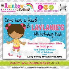 023 DIY Let's Roll 5 Party Invitation Or Thank by LilRbwKreations