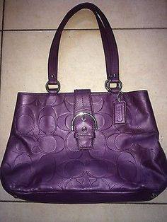 Coach Soho textured embossed leather carryall in purple. Purple Handbags, Purses And Handbags, Coach Handbags, Coach Bags, Brown Coach Purse, Black Coach Purses, Purple Love, All Things Purple, Fashion Handbags