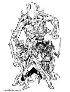 Coloriages à imprimer - Gardiens de la Galaxie (Super-héros)