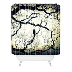 Shannon Clark Mysterious Woods Shower Curtain   DENY Designs Home Accessories