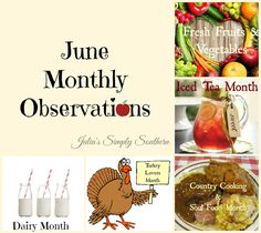 Julia's Simply Southern: June Monthly Observations