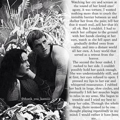 Peeta's perspective on the jabberjay scene...I think knowing that this was the hardest scene for Josh to film for these exact reasons almost makes this that much worse....WHY DO YOU PEOPLE DO THIS TO MY FEELS???