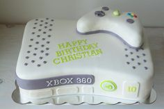https://flic.kr/p/xLjfuw | Xbox cake with all edible remote | Double chocolate cake with strawberry cream cheese buttercream