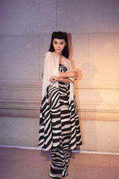 Chinese actress Fan Bing Bing at the Paris during the Fashion Week.