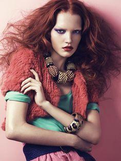 fiery    Jenny Pokryvailo via Katja Ollendorff onto Beauty, hair & make-up