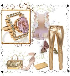 """""""Gold & Pink"""" by costisjewelry on Polyvore"""